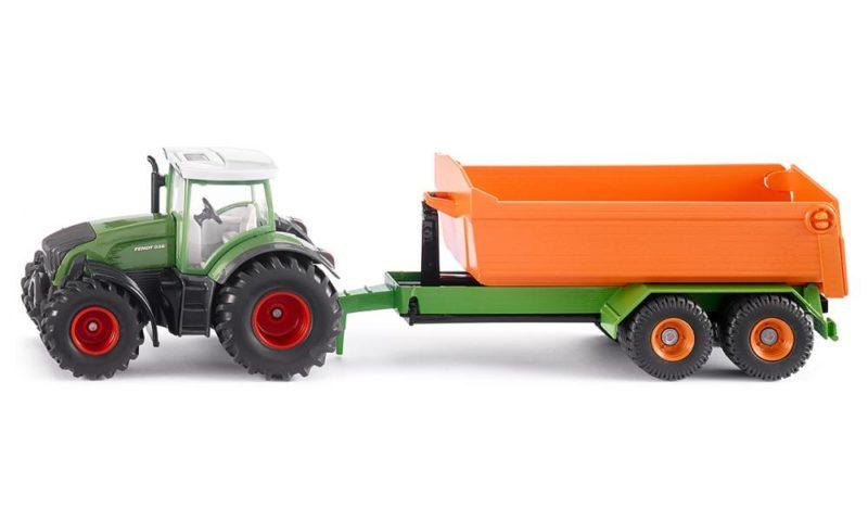 SIKU 1989 Traktor Fendt s prikolico za prevoz materiala